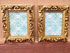 Gold Glittery Mini Frames Ornate Gold Frames Teen by 2RendyVintage, $14.00