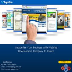 Argalon is a thriving #websitedevelopment company in Indore intend to provide cost-effective web solutions. Our proficient and dedicated team of developers ensure business driven solution keeping you ahead among your competitors all the way.   For further details please visit the provided link:-htttp://www.argalon.net