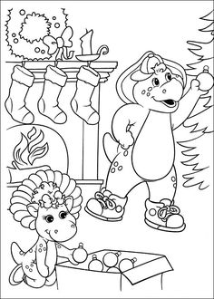 53 best coloring sheets barney images