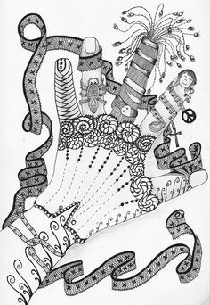 zentangle - hand by Girasole Giallo Sketch Book, Drawings, Doodle Art, Art, Zentangle Patterns, How To Draw Hands, Hand Art, Tangle Art, Drawing Lessons