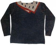 1927 - Elsa Schiaparelli Crée le 1er Pull Tricoté Main, 'Trompe l'Oeil' qui est un succès immédiat. En Noir et Blanc, Noir et Couleurs Vives, à Motifs de Nœud, Cravate, Foulard ...