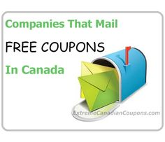 A list of Canadian companies that mail coupons to you for free! A great way to start your couponing in Canada!