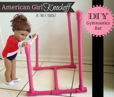 http://www.twoityourself.com/2013/12/diy-american-girl-gymnastics-bar.html