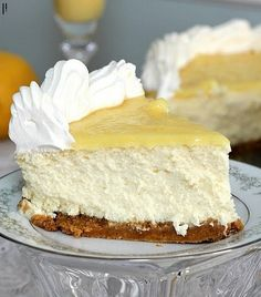 I love the idea of lemon cheesecake!