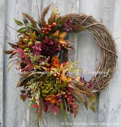 Fall Wreath, Autumn Wreaths, Thanksgiving, Harvest, Designer Wreath, Elegant Fall Floral, Fall Door Wreath