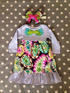 Paisley Onesie Dress by Polkadotologie on Etsy, $28.00