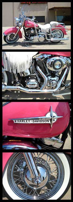 Bubble Gum Barbie Pink Harley - 2012 Softail Deluxe - Sherman, TX http://www.chopperexchange.com/2012-FLSTN-Softail_Deluxe-291341