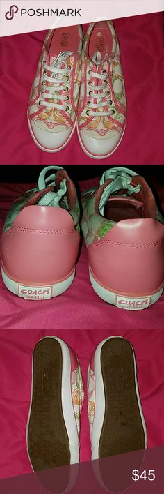 Authentic COACH Barrett Dream Signature Shoes COACH Barrett Dream Signature Shoes Size 10 Coach Shoes Sneakers