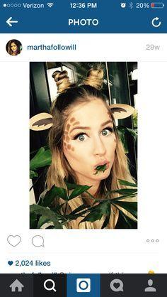 Giraffe hair and makeup