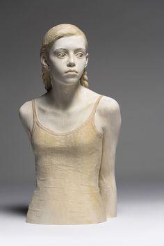 Lifelike Wood Sculptures of Pensive Men and Women - My Modern Metropolis