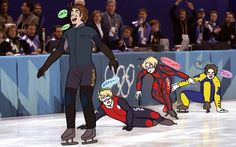 Hetalia at the Olympics<<Haha I still remember this xD Australia was going to come dead last until everyone in front of him falls over haha