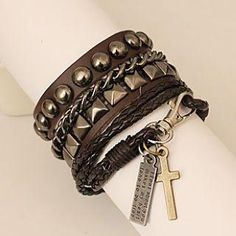 Genuine Leather Studded Bracelet from #YesStyle <3 MURATI YesStyle.com