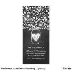 Shop floral mason jar chalkboard wedding programs created by jinaiji. Diy Christmas Tree Topper, Real Christmas Tree, Chalkboard Mason Jars, Chalkboard Wedding, Chalkboard Art, Elegant Wedding Programs, Wedding Ideas, Rustic Country Wedding Decorations, Rustic Wedding