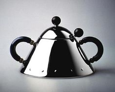 sugar bowl and spoon by michael graves by alessi