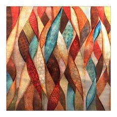 Ribbons of Color Metallic Canvas Art Print | Kirklands