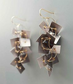 Ralph Bakker Earrings: Untitled, 2005 Gold & Tantalium