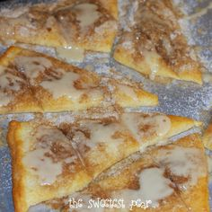 Cinnamon-Sugar Pizza made with crescent rolls.
