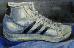 """the Eighties..."" - oil on canvas board -  Anja Essler"