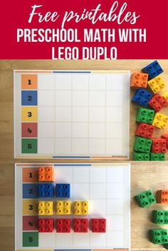 free printables preschool math with lego duplo — Яндекс: нашлось … Lego Activities, Preschool Learning Activities, Preschool Printables, Kindergarten Math, Educational Activities, Kids Learning, Math Games, Painting Activities, Nutrition Activities