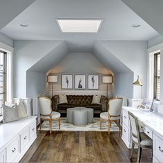 """""""Beautiful and practical way of finishing space/attic over a garage. By @groover_id """""""