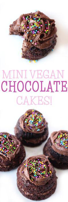 Mini Vegan Chocolate Cakes