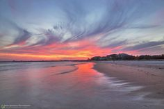 Sunset at Vilano Beach, north of St. Augustine by Robin Anderson Photography, Florida landscape.