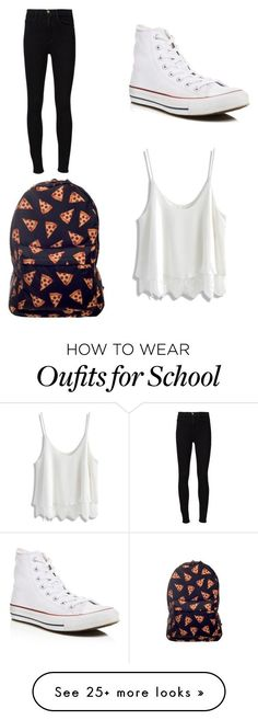 """School outfit"" by gisselleotero on Polyvore featuring Converse, Frame Denim and Chicwish"