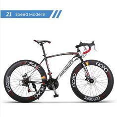 New brand carbon steel frame 700C wheel 21/27 speed disc brake road bike outdoor sport cycling bicicletas racing bicycle