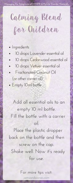 Calming blend for children - anxiety relief | essential oils | Natural remedies Pyrrole, MTHFR