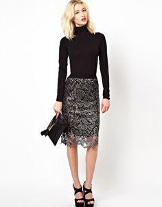 Beloved Lace Pencil Skirt