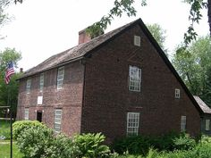 Circa 1745 Brick Josiah Day House West Springfield, Massachusetts......first brick saltbox I ever saw.