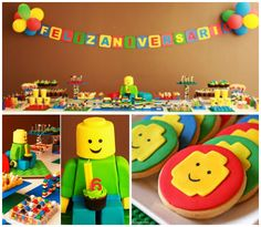 Festa infantil decorada para brinquedos lego - Foto Divulgação