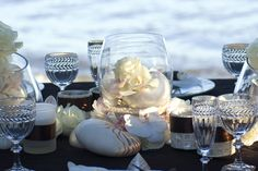 sea shell table decor by the sea
