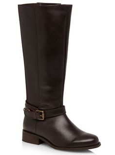 Evans Oxblood Leather Stirrup Riding Boots - View All Boots  - Shoes