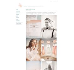 #blog #design - love it when content and web design complement each other so well! Photographer Erika Gerdemark