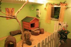The cutest bunny abode ever.  Makes me want to buy a house just so I can make a couple of these!