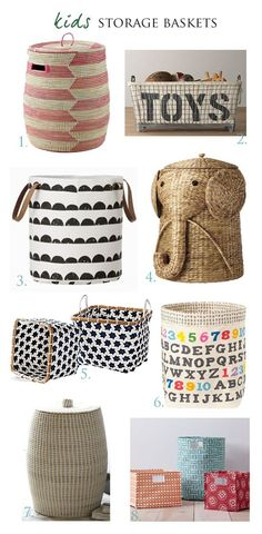 Garnet Hill Printed Canvas Storage Bins as seen on Spearmint Baby!