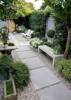 40 Fascinating Side Yard And Backyard Gravel Garden Design Ideas That Looks Cool. 40 Fascinating S Small Backyard Gardens, Backyard Patio Designs, Small Backyard Landscaping, Small Gardens, Landscaping Ideas, Small Patio, Backyard Ideas, Patio Ideas, Backyard Pergola