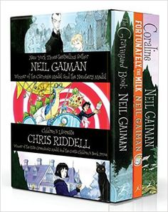 The editions of Neil Gaiman's The Graveyard Book, Coraline and Fortunately, the…