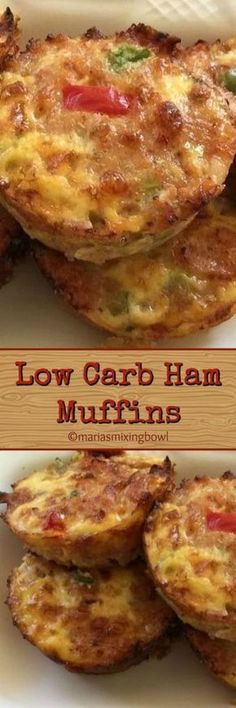 Low Carb Ham Muffins are the easy, healthy low carb breakfast. But even if you a… Low Carb Ham Muffins are the easy, healthy low carb breakfast. But even if you aren't eating low carb they are are great grab and go breakfast option. Healthy Low Carb Breakfast, Low Carb Lunch, Low Carb Keto, Low Carb Recipes, Cooking Recipes, Healthy Muffins, Diabetic Recipes, Drink Recipes, Healthy Meals