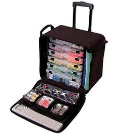 Crop In Style Rolling Bead Tote Black  sc 1 st  Pinterest & Craft Paint Storage Organizer for Acrylic Paint bottles holds 90 ...