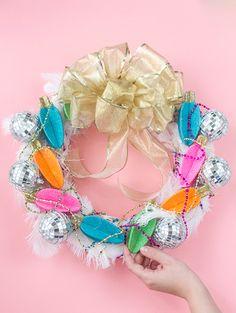 DIY Glamorous, Over-The-Top Christmas Wreath