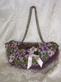 VioletVintage Hankie Clutch Bag by fancibags on Etsy by fancibags, $80.00