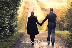 A romantic walk, taken during a pre-wedding photography session in Linlithgow.