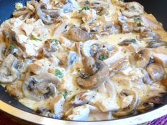 SPLENDID LOW-CARBING BY JENNIFER ELOFF: CREAMY CHICKEN AND MUSHROOM DISH