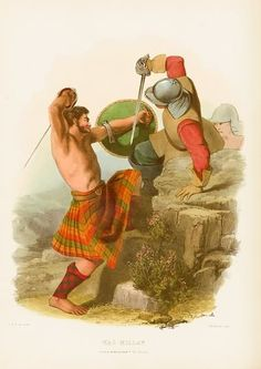 Depiction of Clan MacMillan fighting the English.