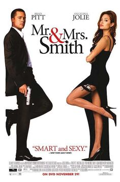 Smith - 2005 -- I really liked this movie . Mr And Mrs Smith, John Smith, Mr Mrs, Great Movies, New Movies, Female Movie Characters, Monsieur Madame, Brad Pitt And Angelina Jolie, Movies Worth Watching