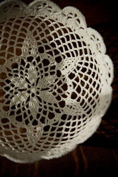 Lace Bowl with Sugar starch instructions like grandma