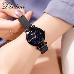 Dimini Magnetic Women Watches Starry Dial Lady Watch Mesh Belt Women Dress Watch Luxury Quartz Wrist Watches Gifts From Touchy Style Outfit Accessories ( Rose Gold ) |Cute Phone Cases |Casual Shoes| Cool Backpack| Charm Jewelry| Simple Cheap Watches, and more.