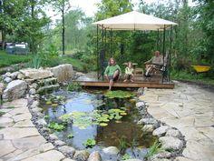Small Backyard Ponds And Waterfalls   Ponds And Waterfalls   ROBIN AGGUS - Natural Landscaping